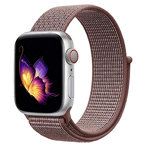 123Watches.nl - Apple watch nylon sport loop band - smokey mauve - 42mm en 44mm