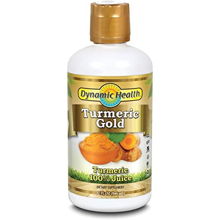 Dynamic Health Turmeric Gold | for Joint Health & Strength | Turmeric 100% Juice | No Gluten & Vegetarian | 32 oz