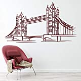 Etiqueta de la pared Tower Bridge Landmark Art Mural Glass Vinyl Sticker Artista Estudio Oficina Dormitorio Decoración interior