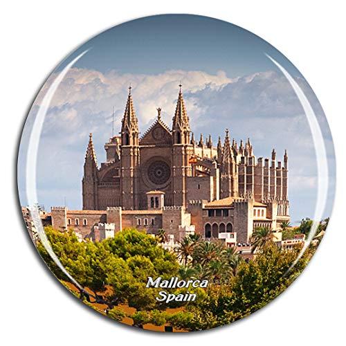 Weekino España Palma Mallorca Catedral Imán de Nevera 3D de Cristal de la Ciudad de Viaje Recuerdo Colección de Regalo Fuerte Etiqueta Engomada refrigerador