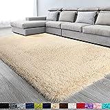 Beige Soft Area Rug for Bedroom,5x8.6,Fluffy Rugs,Shag Carpet for Living Room,Furry Rugs for Girls Baby Room,Shaggy Rug for Kids Room,Nursery,Dorm,Anti-Slip Rug,Big Rug,Beige Carpet,Home Decor