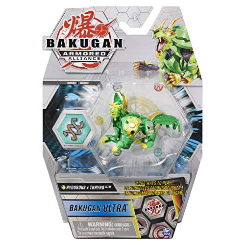 Bakugan Ultra, Fused Hydorous x Trhyno, 3-inch Tall Armored Alliance Collectible Action Figure and Trading Card