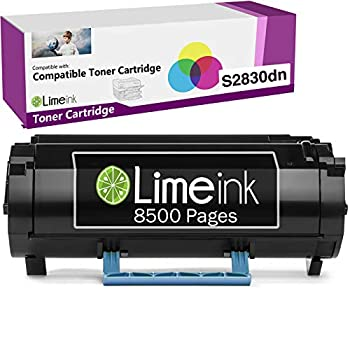 Limeink 1 Black Compatible S2830 High Yield Laser Toner Cartridge Replacement  8500 Pages  for Dell S2830dn S2830 2830 dn 2830dn Smart Series Printer Ink