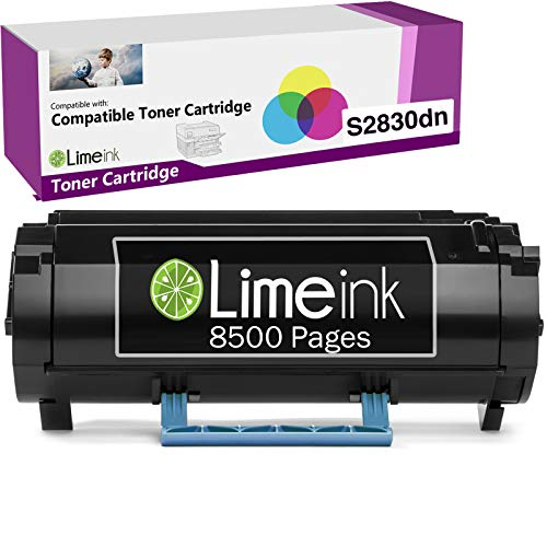 Limeink 1 Black Compatible S2830 High Yield Laser Toner Cartridge Replacement (8500 Pages) for Dell S2830dn S2830 2830 dn 2830dn Smart Series Printer Ink