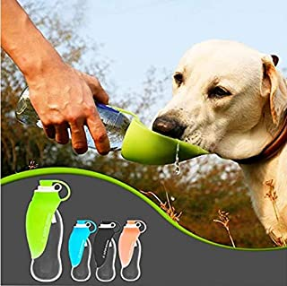 Very good Pet Kettle Portable Dog Water Bottle for Walking Travel Drinking Cup Going Out with Water Leaf Folding Drinking ...