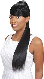 EVE HAIR Casablanca - 100% Heat Retardant Fiber 2 in 1 Bang & Ponytail - Side Swept Bang Hair Extension with 27