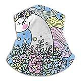 Calentador de cuello de vellón, bufanda de diseño de papel tapiz de colores unicornios multifuncional, una máscara facial completa o sombrero, polaina de cuello, gorra de cuello, máscara de...