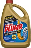 DESTROYS CLOGS: Liquid-Plumr drain clog remover destroys clogs to clear fully blocked and slow flowing drains WORKS ON MULTIPLE CLOG TYPES: This liquid drain cleaner tackles the toughest clogs from hair, grease, and soap scum SAFE ON ALL PIPES: Made ...