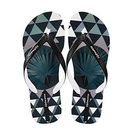 Tongs Hommes Adulte Sandales d'été Pantoufles Brasil Flip Flops, Chaussures de Plage Piscine garçon (Couleur : Noir, Taille : 43 EU)