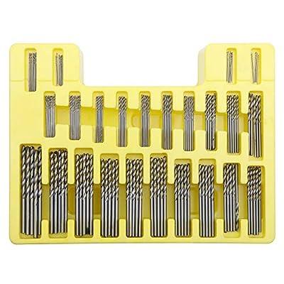 150Pcs Set Micro Drill Bit Set Power Tools Unxuey Mini Precision Hss Power Drill Small Precision Twist Drilling Kit with Plastic Box 0.4mm-3.2mm for PCB Crafts Jewelry Drilling Tool