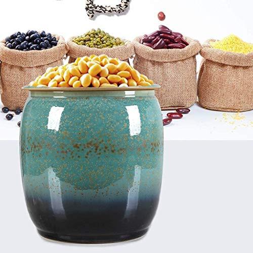 Botes cristal cocina Vintage Europea almacenamiento de alimentos en recipientes con tapas...