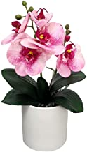 YATAI Artificial Orchid Flowers in Ceramic Vase With Stone Arrangement Artificial Potted Plants for Home Indoor Dinning Ta...