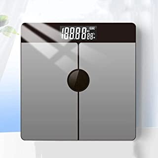 Báscula de baño digital Luz de energía recargable Escala electrónica, inteligente Medición de grasa corporal báscula peso corporal (Color : B)