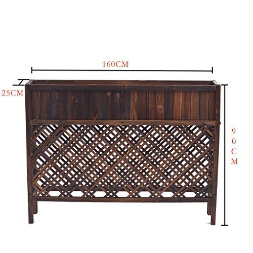 Étagère en bois étagère étagère étagère étagère anti-corrosion solide fleur en bois étagère verte en pot de fleurs. ( taille : 90*160cm )