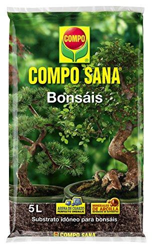 Compo Sana Bonsáis con 8 semanas de abono, de Interior y Exterior, Substrato de Cultivo, 5 L, 37x23x5.5 cm