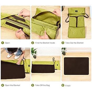 Couverture pliable imperméable UEETEK pour animal de compagnie - Tapis pour chien ou chat - Avec sac de transport - Idéal pour le camping - Vert - 100x 70cm