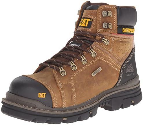 Caterpillar Men s Hauler 6 Inch Waterproof Comp Toe Work Boot Dark Beige 10 5 W US product image