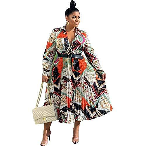 Plus La Taille Vêtements Africains Femmes Été Maxi Robe Vintage Ceinture Imprimer À Manches Longues Boubou Africain Femme Vestidos-Noir_4XL
