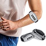 CAMBIVO 2 Pack Tennis Elbow Strap, Elbow Brace with Compression Pad, Arm Brace Band for Tendonitis, Tennis and Golfer's Elbow (Gray)