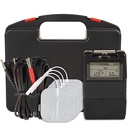 Balego TENS/EMS Digital Combo 100mA Electrical Stimulation Model (BAL9001) with Accessories and 5 Therapy Modes for Pain Relief and Muscle Stimulation (OTC)