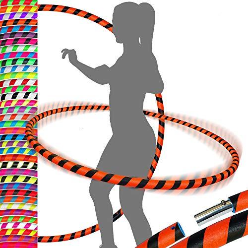 PRO Hula Hoops Reifen für Anfänger und Profis (Ultra-Grip) Faltbarer TRAVEL Hula Hoop ideal für Hoop Dance, Fitness Training, Zirkus, Festivals & Fun!