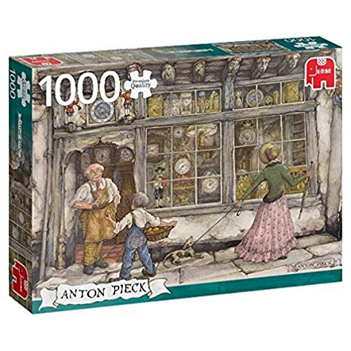 Jumbo- Anton Pieck-The Clock Shop-Puzzle da 1000 Pezzi, Multicolore, 18826