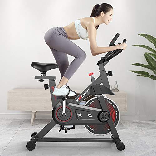 AAGYJ Bicicleta de Ciclismo giratoria con transmisión por cinturón Bicicleta de Ejercicio magnética para Interiores Bicicleta estacionaria para Interiores Entrenamiento Cardiovascular para el hogar