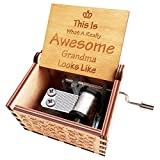 N / A Orimami to Grandma Music Box from Granddaughter Grandson, This is What a Really Awesome Grandma Looks Like Birthday Gifts Idea for Grandma Grandmother