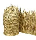 "Natural palm Mexican thatch runner roll 35""t x 60'l. Commercial quality palapa rain Cape material. (1 roll) Characteristics:  natural palm fronds harvested, dried, and hand woven, varied earth tone hues Ease of installation and fitting: tools needed:..."