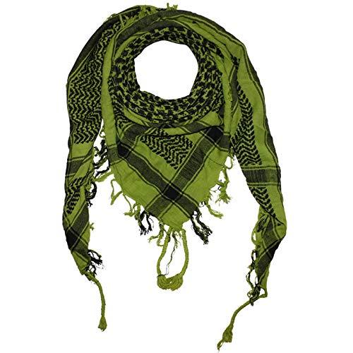 Freak Scene Kefiah - verde-fluo verde - nero - 100x100 cm - Shemagh - Sciarpa Arafat Foulard kefiah palestinese 100% cotone