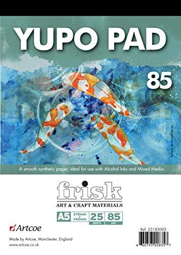 Frisk Yupo Notizblock, 85 g/m², A5, 25 Stück, Weiß