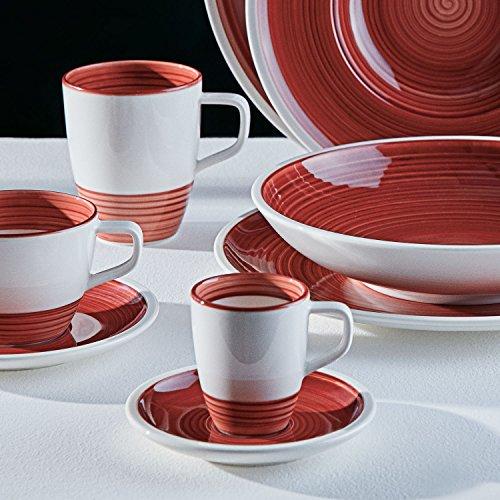 Villeroy & Boch Manufacture Rouge Tasse à espresso/moka, handbemaltes vaisselle en haute qualité premium Rouge, 90 ml, Porcelaine, Blanc, 8 x 8 x 6 cm