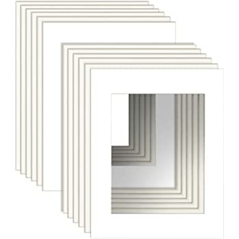 """11x14"""" White Picture Mats with Core Bevel Cut Frame Mattes for 8x10"""" Pictures- Pack of 12"""