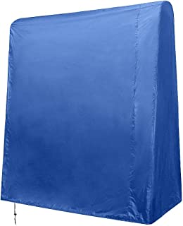 Ping Pong Table Cover, 210D Heavy-Duty Waterproof Table Tennis Cover, Adjustable Size Outdoor Table Cover with Drawstring TQZZ04 (blue)