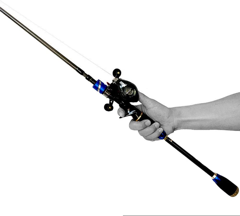 CNBEAU Blue service 4 Section Carbon Fishing P Rods shopping Plugs Asian