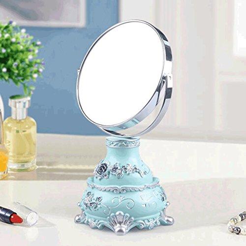 Mini Miroir Double-face Maquillage Tableau Miroirs Portable Vanity Bureau-taille Miroir Princesse Miroirs Mode Creative Belle Belle Pastorale Style Déesse Accueil Amélioration Xuan - worth having