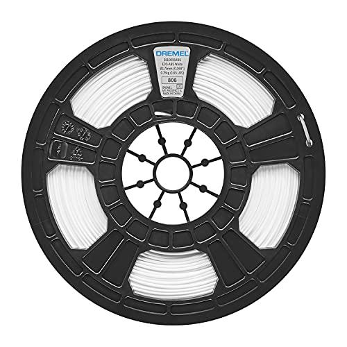 Dremel Filamento in ECO-ABS, Accessorio per Stampante 3D45, Diametro 1.75 mm, Peso 750 g, Bianco