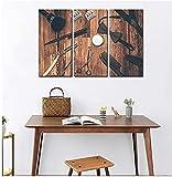 HAOLY Cuadros Abstractos Modernos Imágenes para La Oficina O La Cocina, Murales Adhesivos Y Pegatinas De Pared como Póster para Dormitoriotijeras para Herramientas De Peluquería-30 * 40
