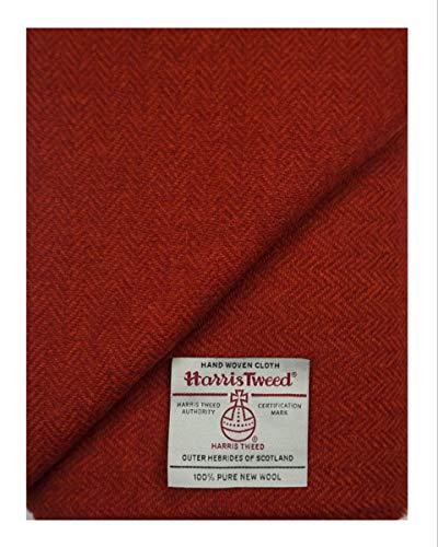 Harris-Tweed-Stoff, 100 % reine Wolle, mit Etiketten, 75 x 50 cm, Ref. Oct201