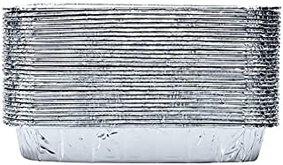 Set of 30 Disposable Aluminum Replacement BBQ Grill Tray Grease Catch Pans Liner Foil for Weber All-Purpose Summit Drip Pan, 7.5