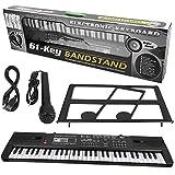 Teclado digital, 61 teclas, música digital, órgano electrónico, teclado portátil con micrófono para niños