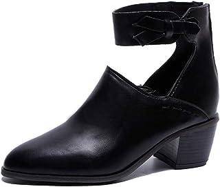 [OceanMap] 入学式 ママ パンプス 入園式 卒業式 歩きやすい アンクルストラップ 靴 太ヒール アーモンドトゥ レディース 脱げない ローヒール 痛くない 黒 幅広 甲高 大きいサイズ 走れる レディース靴 女装 コスプレ
