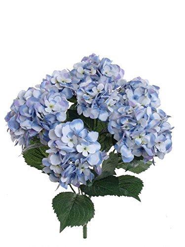 Künstliche Hortensie mit 7großen Blütenköpfen von 8m, Seidenblume, ideal für zu Hause, Hochzeiten und als Dekoration