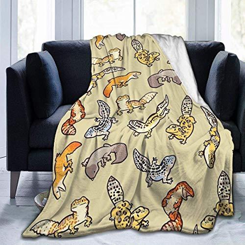 Fleece Decke Chub Gecko Babies Home Flanell Fleece weiche warme Plüsch Decke für Bett/Couch/Sofa/Büro/Camping 60