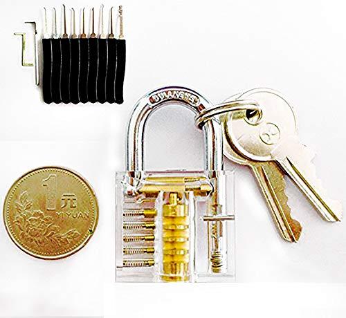 Lockpicking Set picking Dietrich Set Blau Mit Transparent Schloss