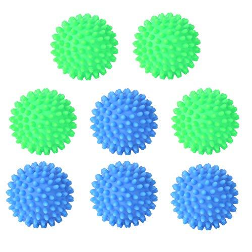 fanshiontide 8 Unidades de Bolas de Secadoras Reutilizables Bola de Suavizante de Telas para Lavadora Alternativa Ecológica al Suavizante de Telas