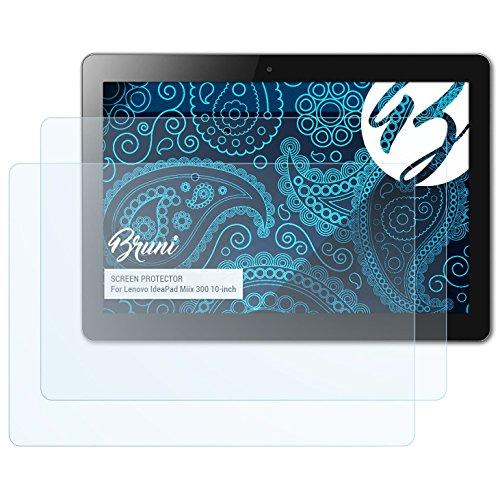 Bruni Schutzfolie kompatibel mit Lenovo IdeaPad Miix 300 10-inch Folie, glasklare Displayschutzfolie (2X)