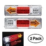 2x Montaje de Luces Traseras 19 LED Tail Remolque Luz...
