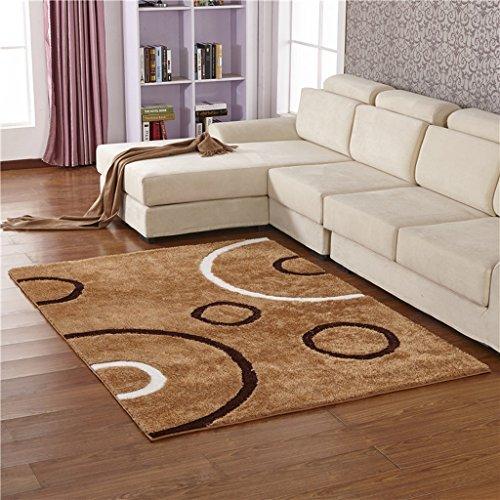 CXSM Europäische minimalistische Moderne Verschlüsselung elastischen Seidenteppich Wohnzimmer Sofa Teppich Schlafzimmer Matratze Rechteck (größe : 160cm*230cm)