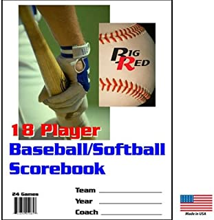 Blazer Athletic 18 Player / 24 Game - Detailed Baseball/Softball Scorebook